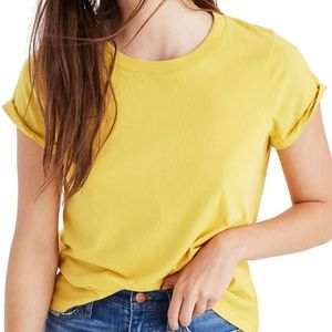 Madewell Yellow Tee